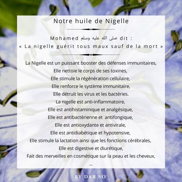BIENFAITS DE LA NIGELLE
